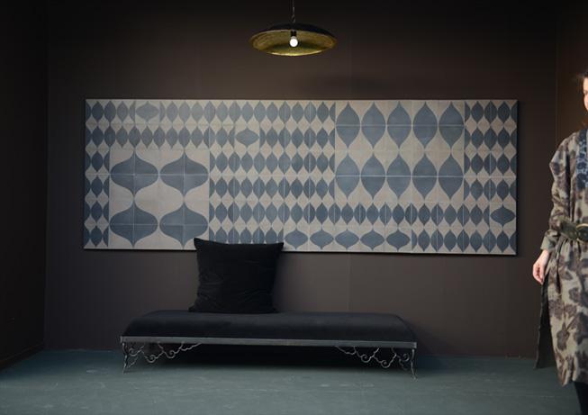 Emery cie carrelages ciment exemples vitrines - Carrelage motif geometrique ...