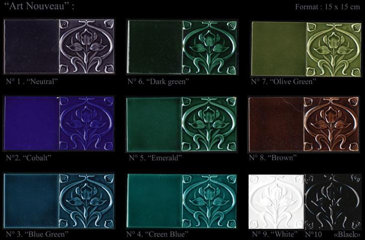 emery cie carrelages art nouveau couleurs art nouveau. Black Bedroom Furniture Sets. Home Design Ideas
