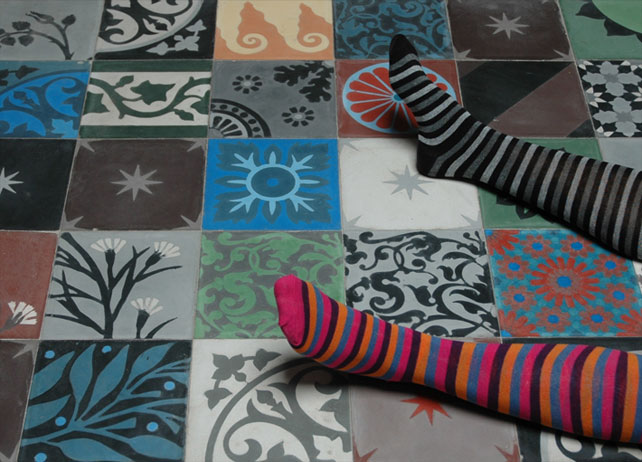 Carreaux de ciment patchwork