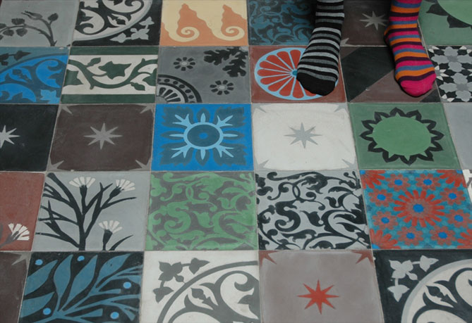 Emery cie carrelages ciment mod les patchwork regle - Emery cie carrelage ...