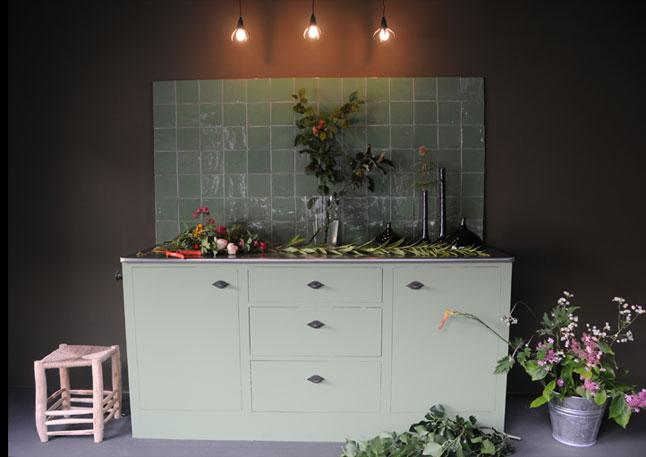 Emery cie carrelages kleurtjes exemples cuisines for Cuisine vert pale