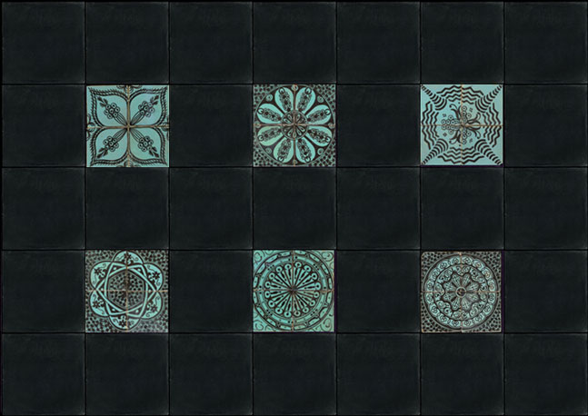Emery cie tiles fez pottery examples page 08 Fez tiles