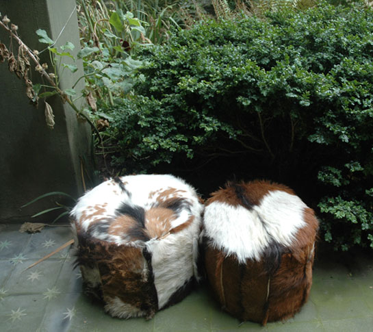 Emery & Cie Furniture :  interior decoration pouffes hide rustic