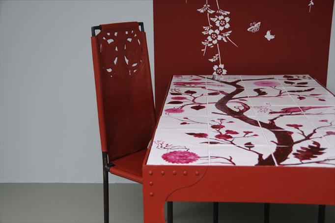 emery cie papiers peints au metre motifs prunier en fleurs exemples page 11. Black Bedroom Furniture Sets. Home Design Ideas