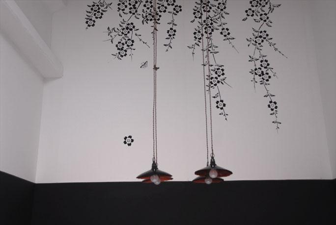 emery cie papiers peints au metre motifs prunier en fleurs exemples page 13. Black Bedroom Furniture Sets. Home Design Ideas