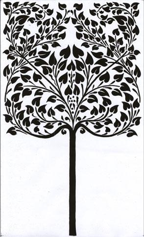 Emery cie papiers peints au metre motifs arbre - Papier peint motif arbres ...