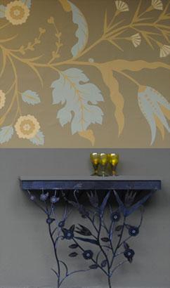 emery cie papiers peints au metre motifs iznik exemples. Black Bedroom Furniture Sets. Home Design Ideas