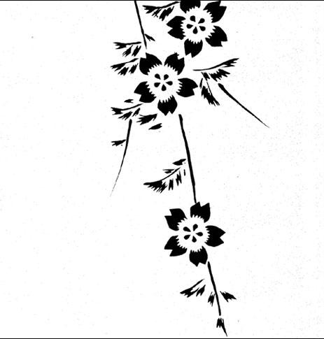 emery cie papiers peints au metre motifs prunier en fleurs. Black Bedroom Furniture Sets. Home Design Ideas