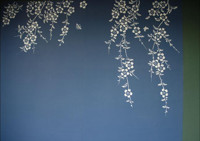emery cie papiers peints au metre motifs prunier en fleurs d finition. Black Bedroom Furniture Sets. Home Design Ideas