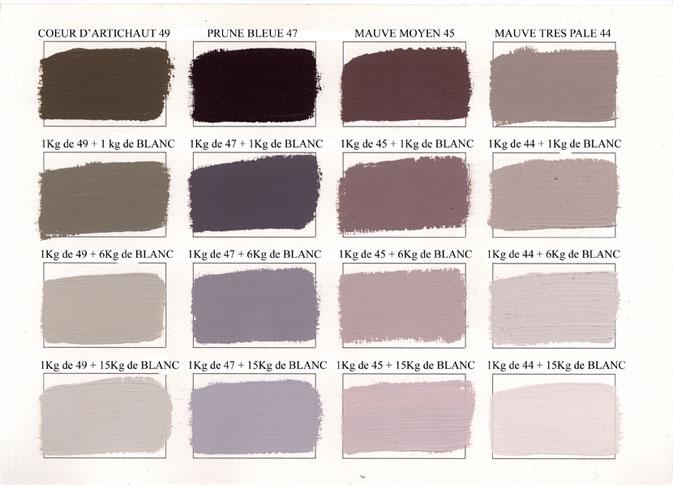 Emery cie peintures peinture mate couleurs degrades page 08 - Couleur peinture gris mauve ...