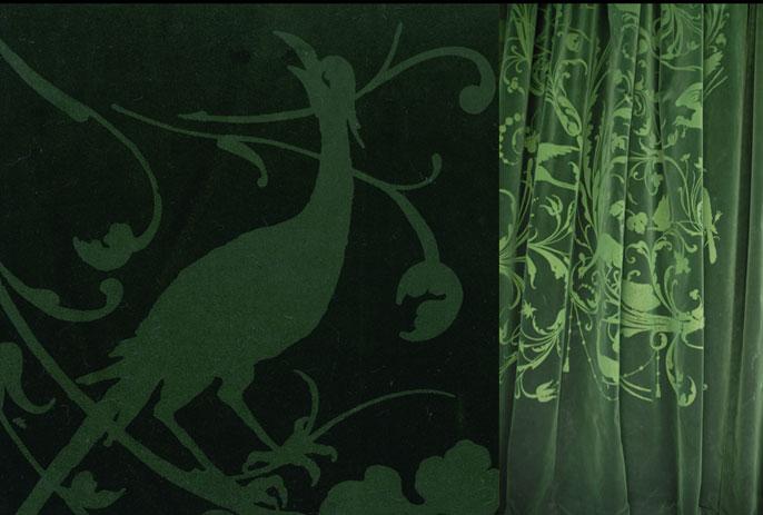 emery cie tissus faconnes rideaux classiques exemples velours vert fonce page 04. Black Bedroom Furniture Sets. Home Design Ideas